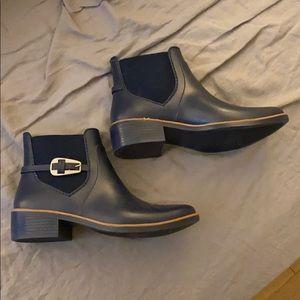 Bernardo navy blue short rain boots